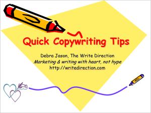Quick Copywriting Tips