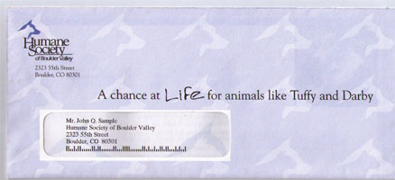 Humane Society of Boulder Valley – Non-profit Direct Mail Package