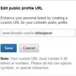 Edit LinkedIn Profile URL