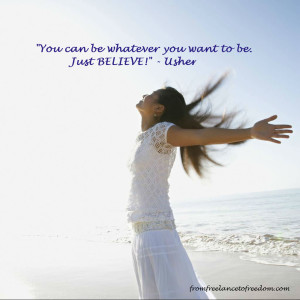 Usher Quote - believe