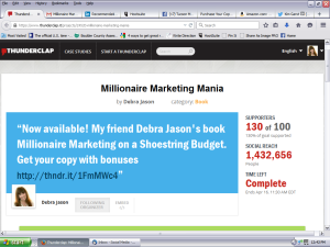 Millionaire Marketing Thunderclap Book Launch